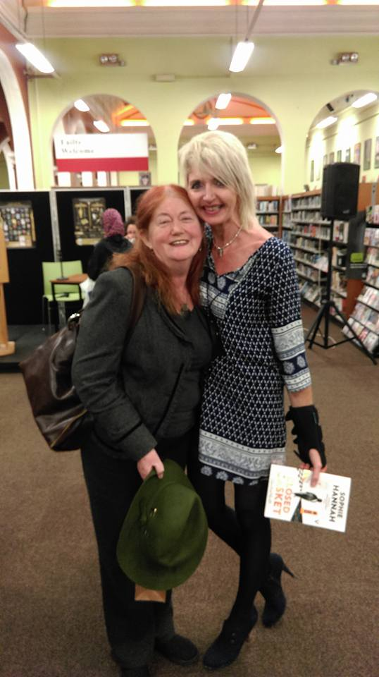With my wonderful editor, Gaye Shortland!